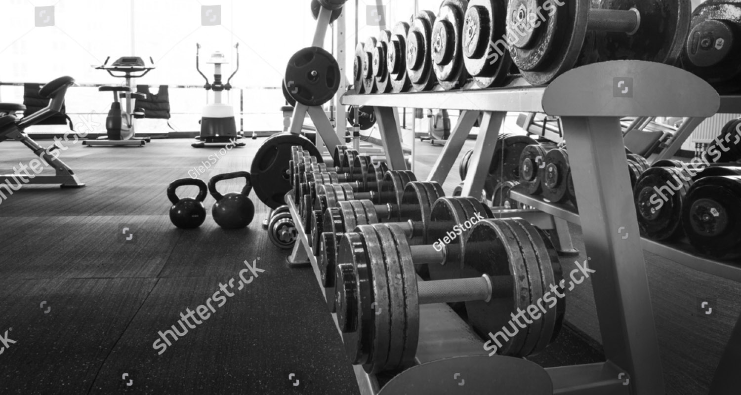 Stock photo old gym interior with equipment 412095283 martyn paul